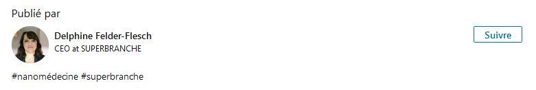 Superbranche delphine felder-flesch sylvie Begin-Colin IPCMS CNRS iron stearate nanomatériaux architecturés iron stearate nanoparticules magnétiques dendrimères dendritiques diagnostic précoce thérapie ciblée oncologie cancer startup nanotechnologie nanomédecine biotechnologie innovation injection intraveineuse imagerie médicale